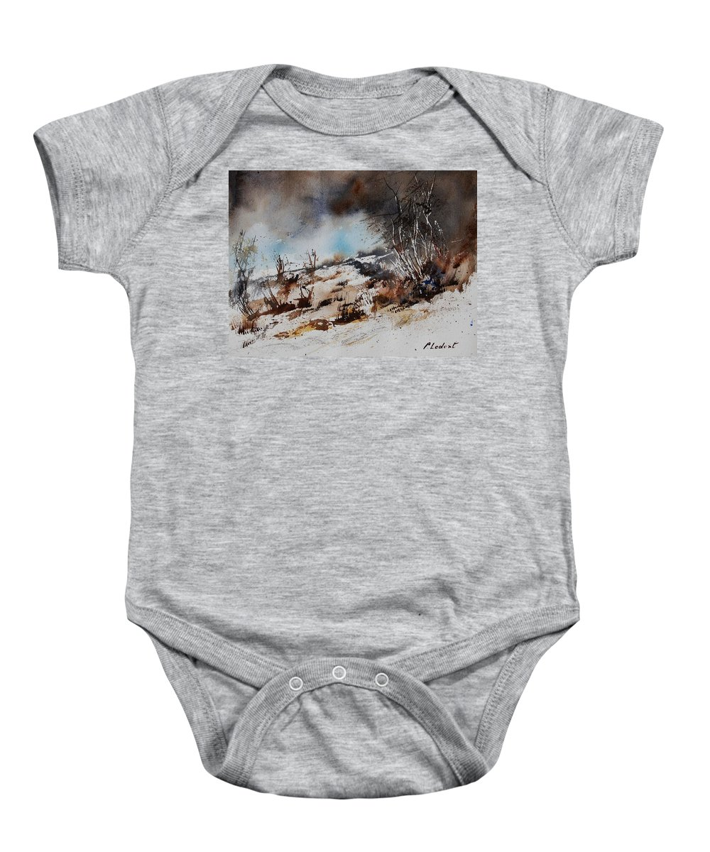 River Baby Onesie featuring the painting Watercolor Jjook by Pol Ledent