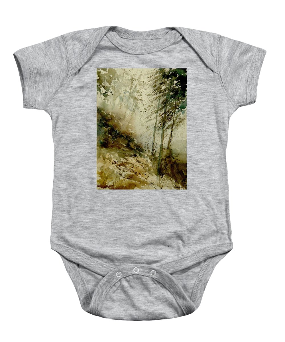Landscape Baby Onesie featuring the painting Watercolor Misty Atmosphere by Pol Ledent