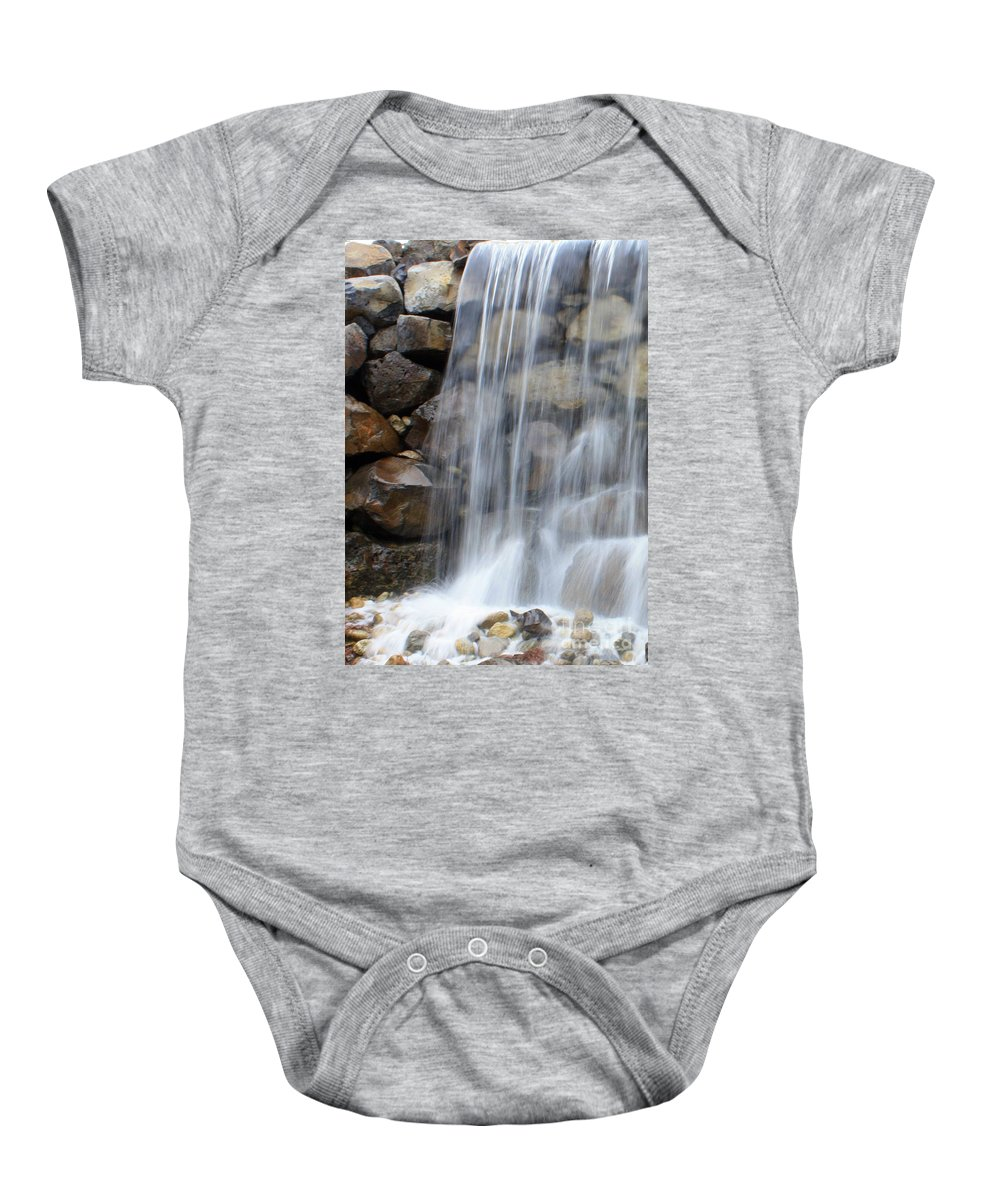 Waterfall Baby Onesie featuring the photograph Waterfall 1 by Carol Groenen