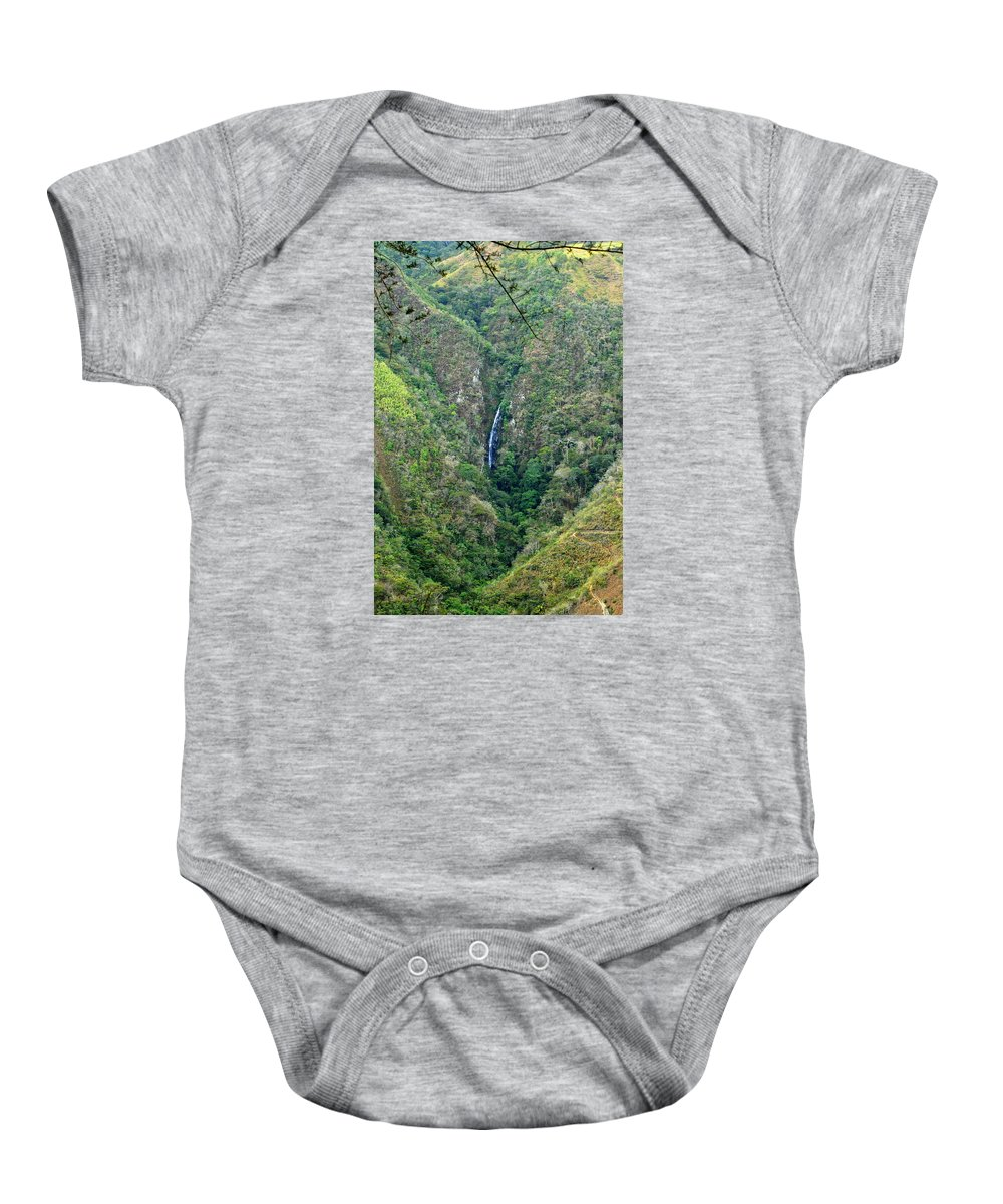 Tropics Baby Onesie featuring the photograph Waterfall In The Intag 4 by Teresa Stallings