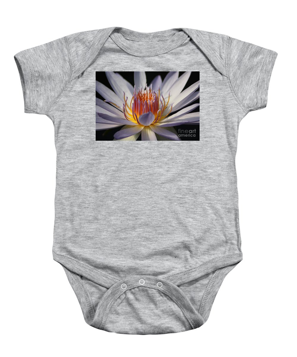 Waterlily Baby Onesie featuring the photograph Waterlily by Helen Weston
