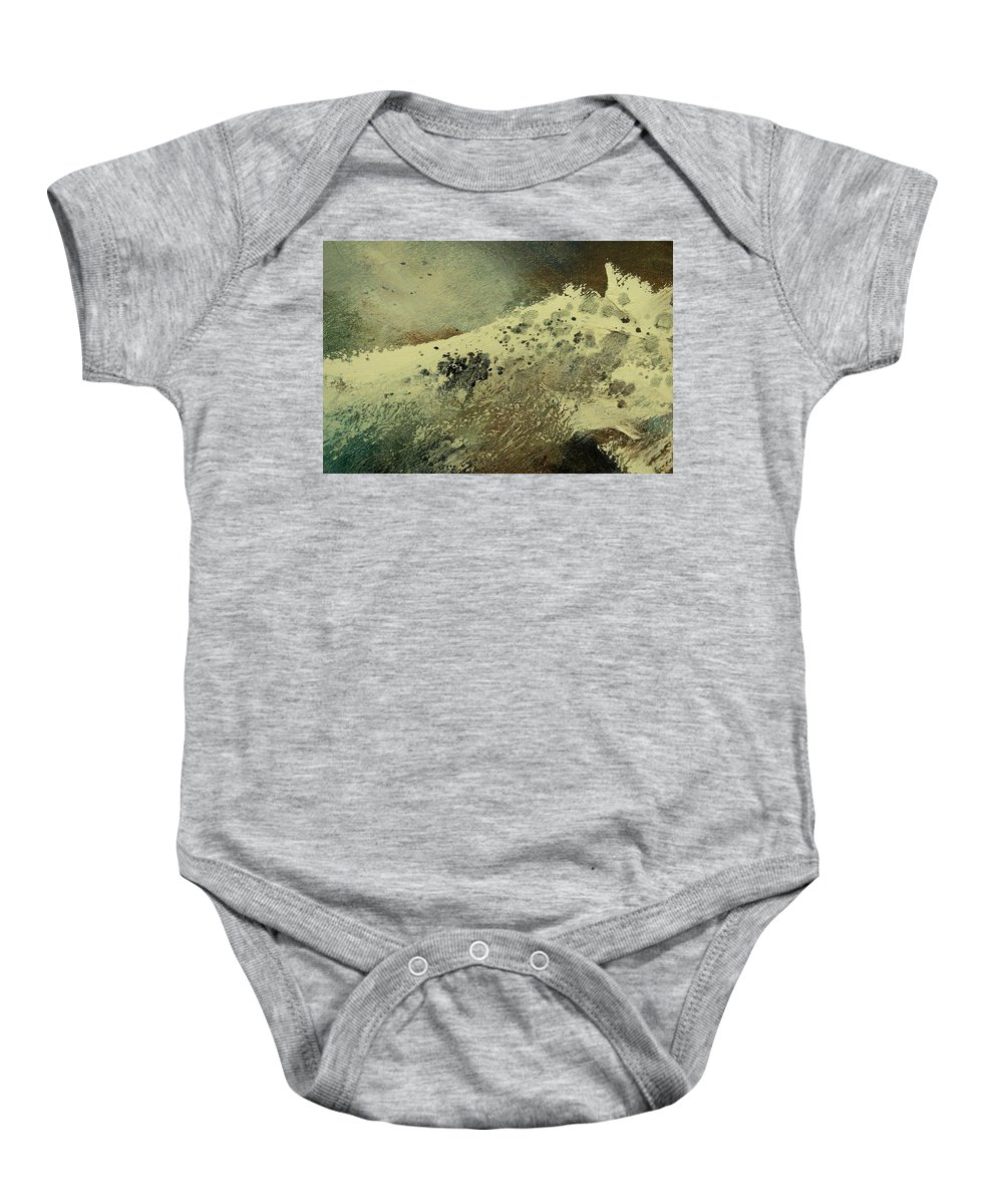 Sea Baby Onesie featuring the painting Wave by Pol Ledent