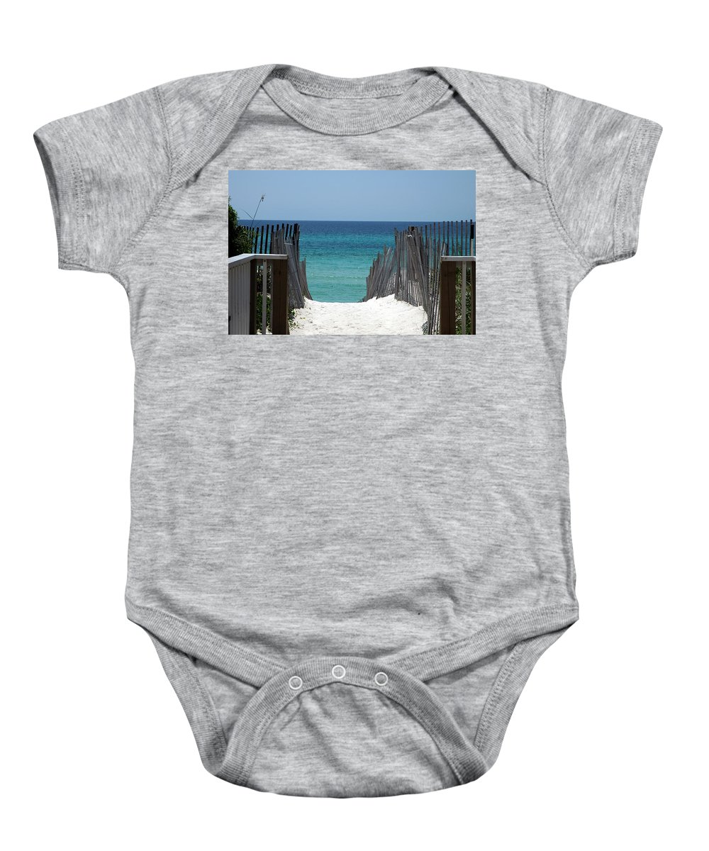 Photography Baby Onesie featuring the photograph Way To The Beach by Susanne Van Hulst