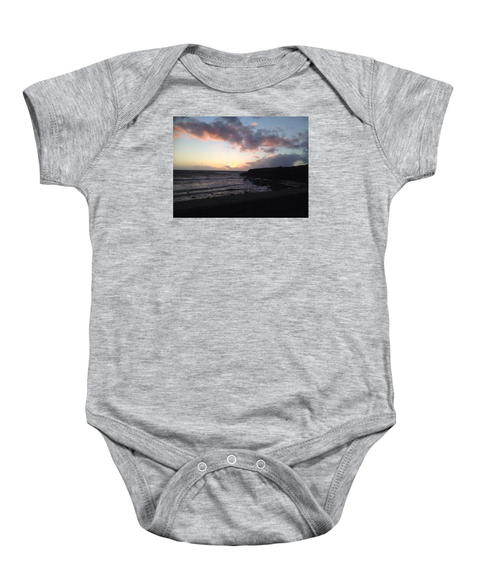 Sunset Baby Onesie featuring the photograph West Of Ireland by Eoin Gleeson