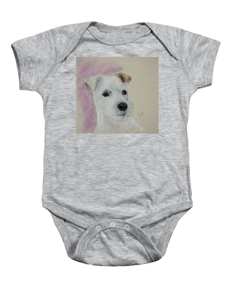 Pastel Baby Onesie featuring the drawing What A Riot by Cori Solomon
