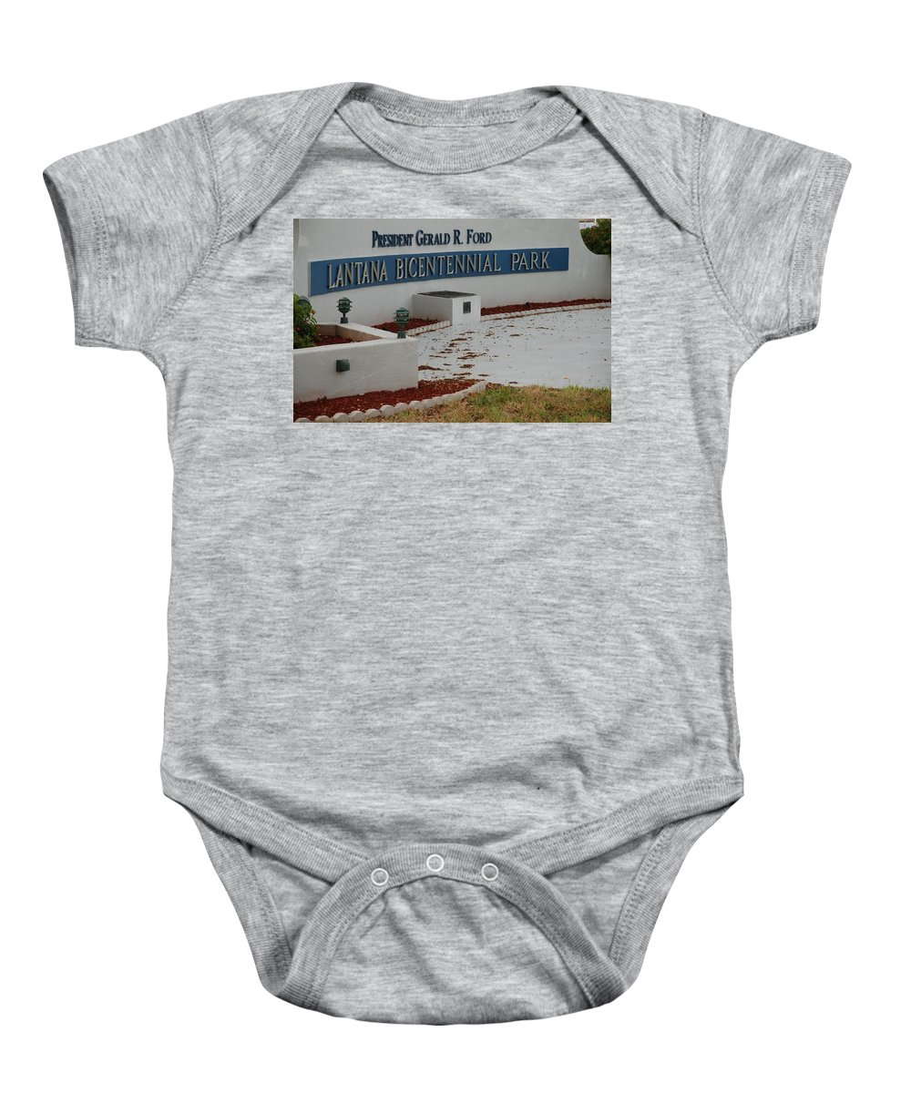 Landscapes Baby Onesie featuring the photograph What It Says by Rob Hans