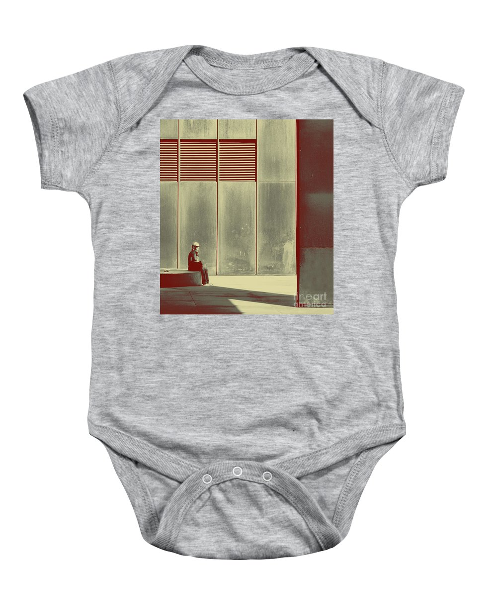 Alone Baby Onesie featuring the photograph When Shes Gone by Dana DiPasquale