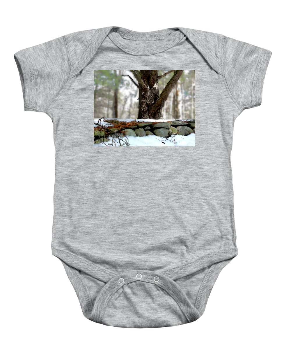 Bird Baby Onesie featuring the painting White Breasted Nuthatch by Paul Sachtleben