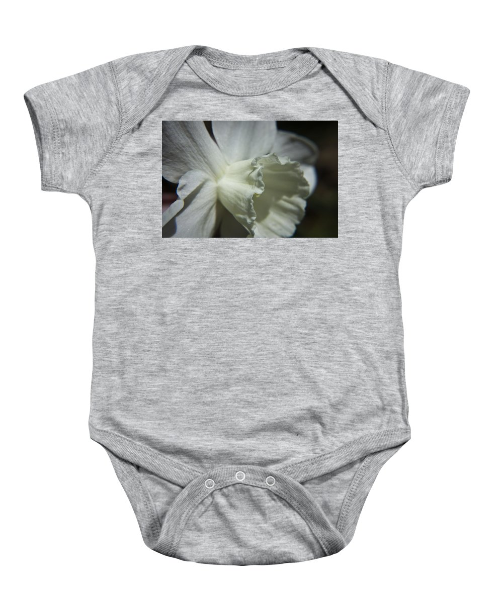 Flower Baby Onesie featuring the photograph White Daffodil by Teresa Mucha