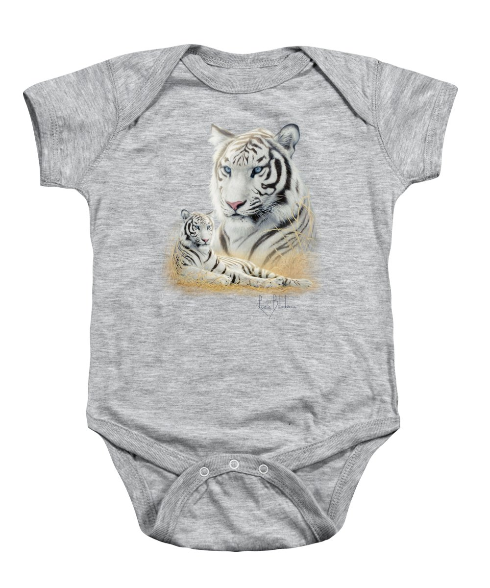 43c6025d24e4 Tiger Baby Onesie featuring the painting White Tiger by Lucie Bilodeau