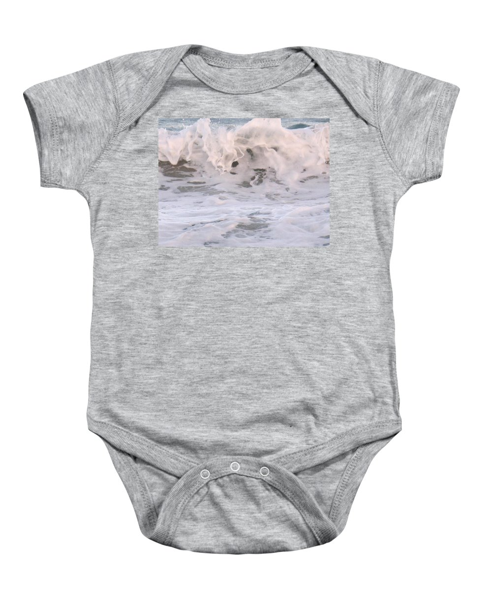 Surf Baby Onesie featuring the photograph Wild Surf by Ian MacDonald