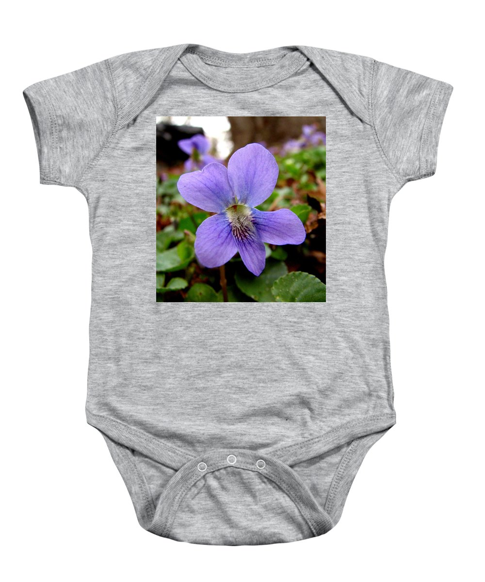 Violet Baby Onesie featuring the photograph Wild Violet 1 by J M Farris Photography
