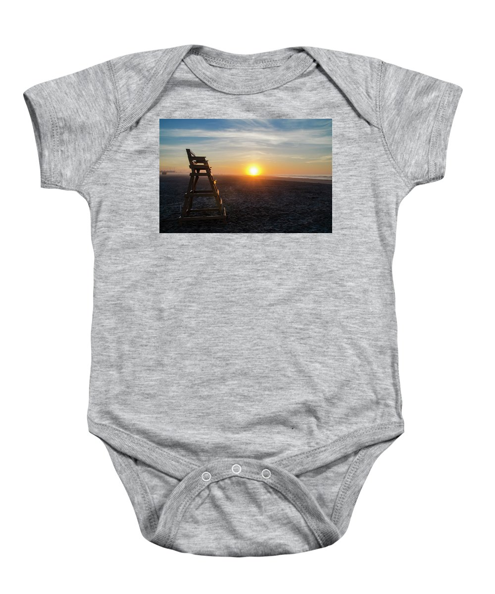 Wildwood Baby Onesie featuring the photograph Wildwood New Jersey - Peaceful Morning by Bill Cannon