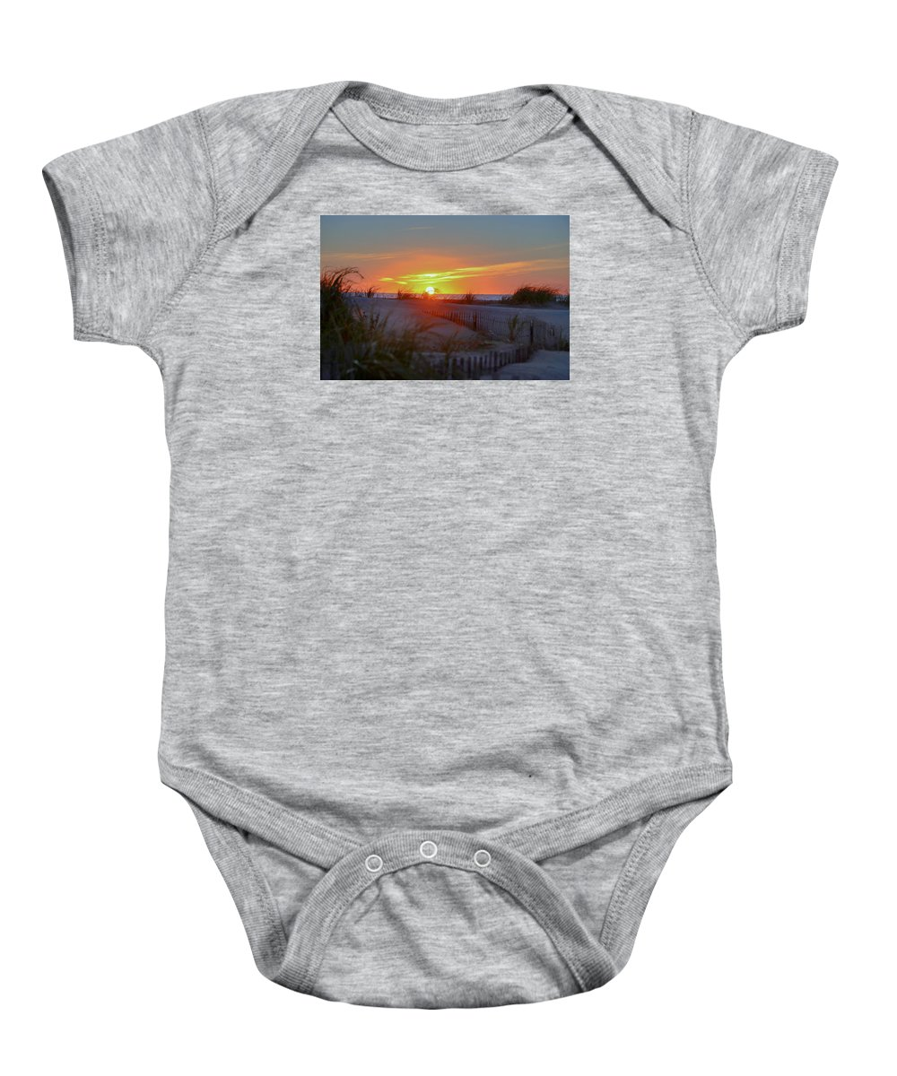 Wildwood Baby Onesie featuring the photograph Wildwood Summers by Bill Cannon