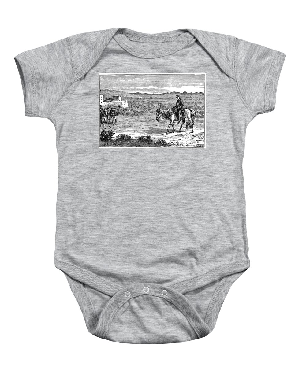 1842 Baby Onesie featuring the drawing William Brydon - To License For Professional Use Visit Granger.com by Granger