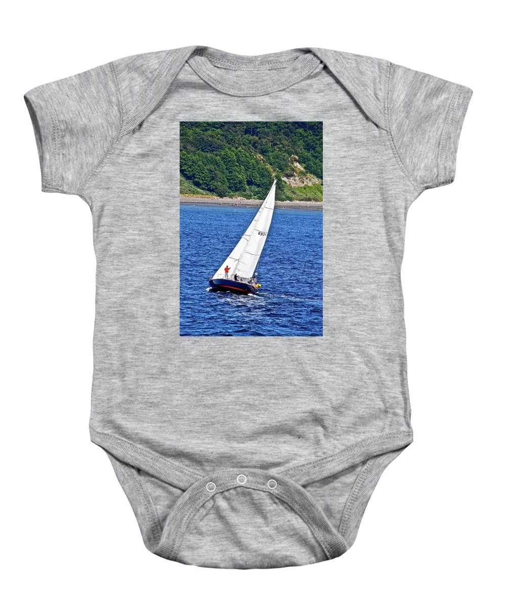 Boat Baby Onesie featuring the photograph Wind Friend by Diana Hatcher