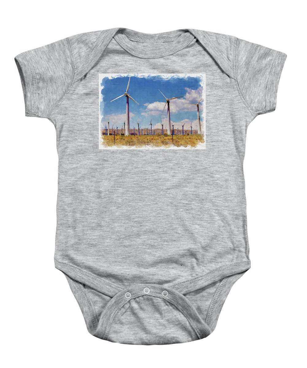 Wind Baby Onesie featuring the photograph Wind Power by Ricky Barnard