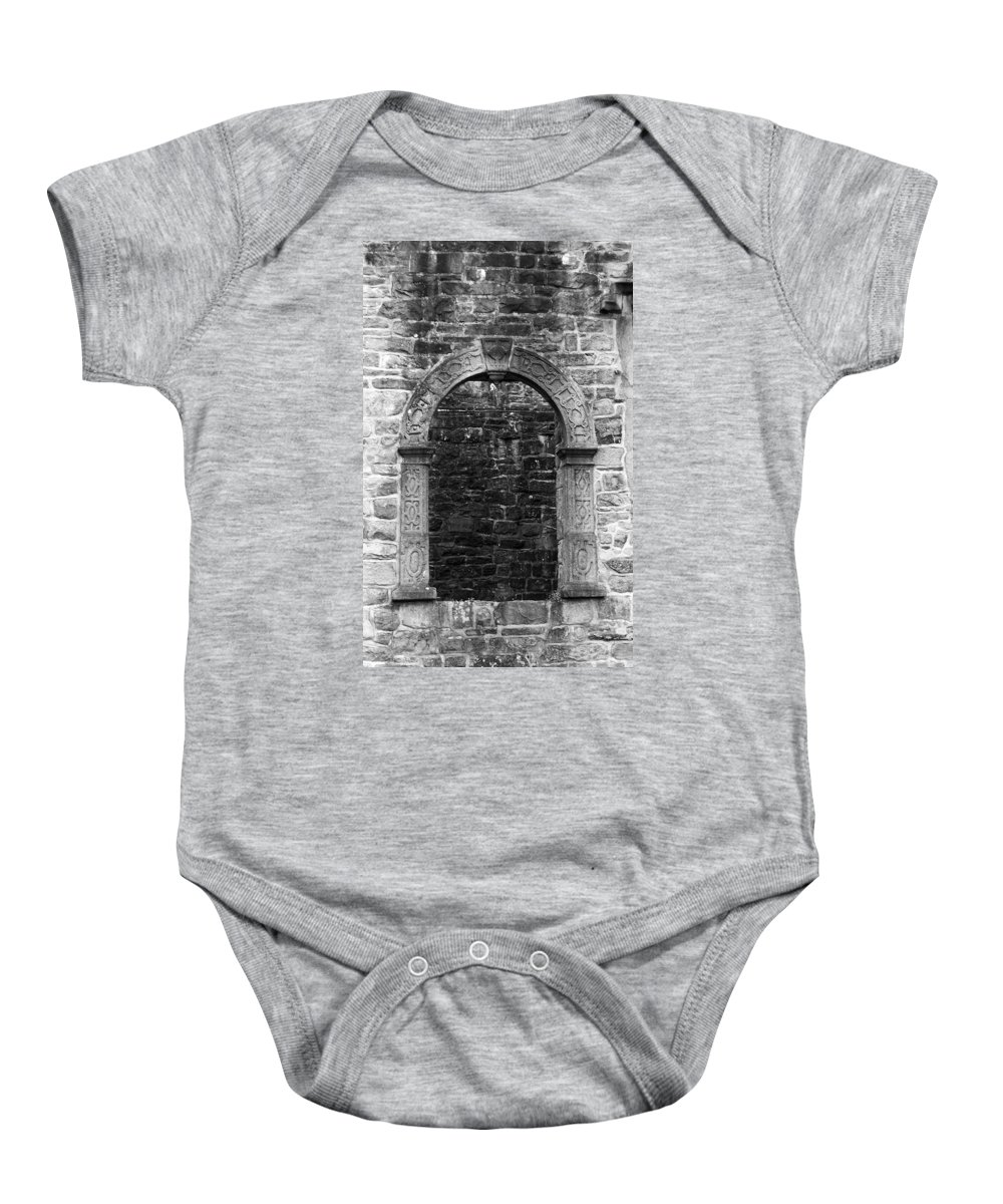 Irish Baby Onesie featuring the photograph Window At Donegal Castle Ireland by Teresa Mucha