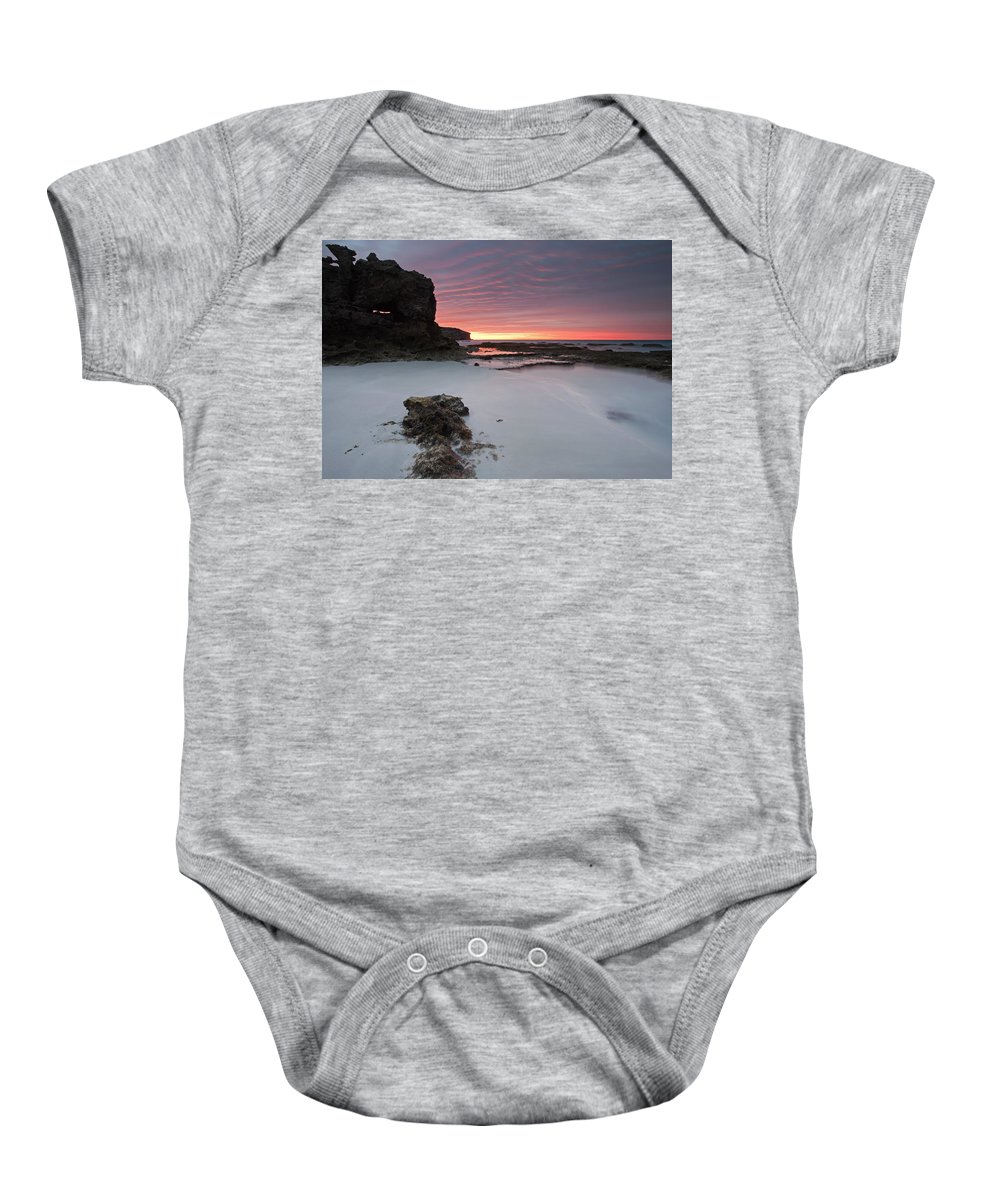 Sunrise Baby Onesie featuring the photograph Window On Dawn by Mike Dawson