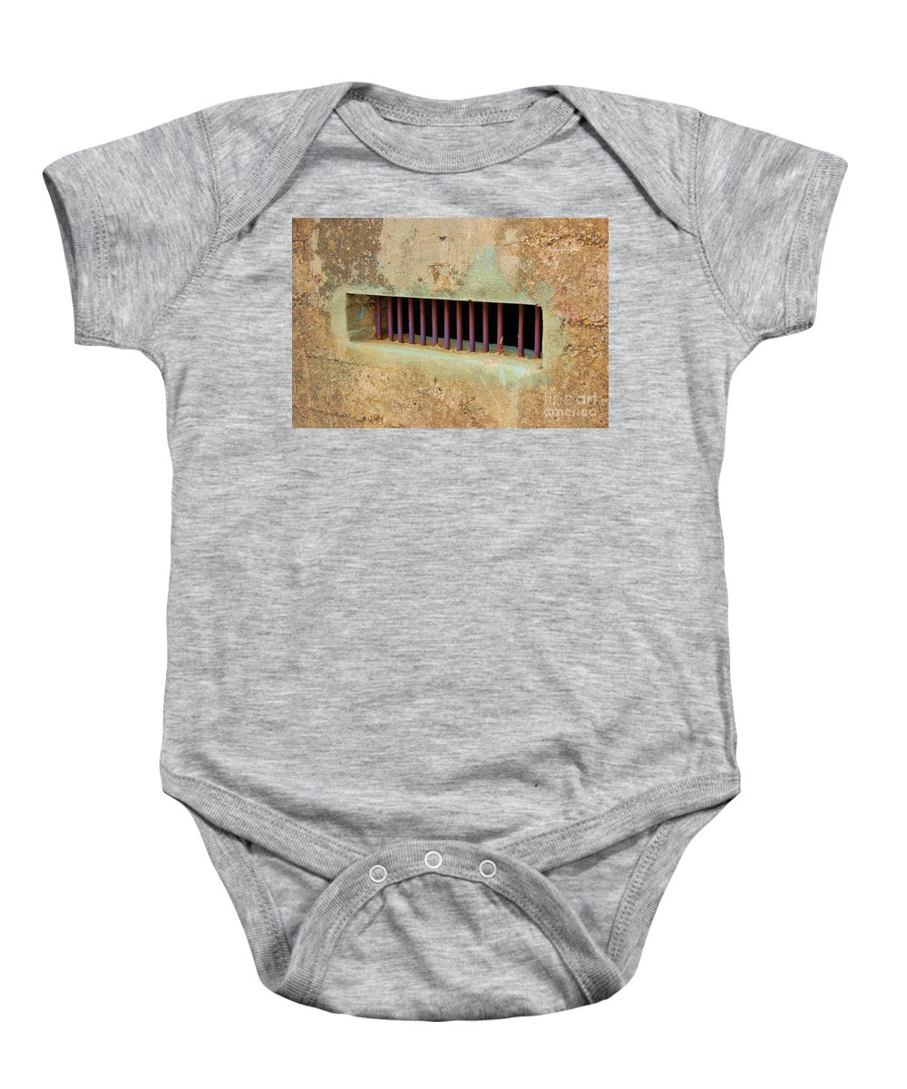 Jail Baby Onesie featuring the photograph Window To The World by Debbi Granruth