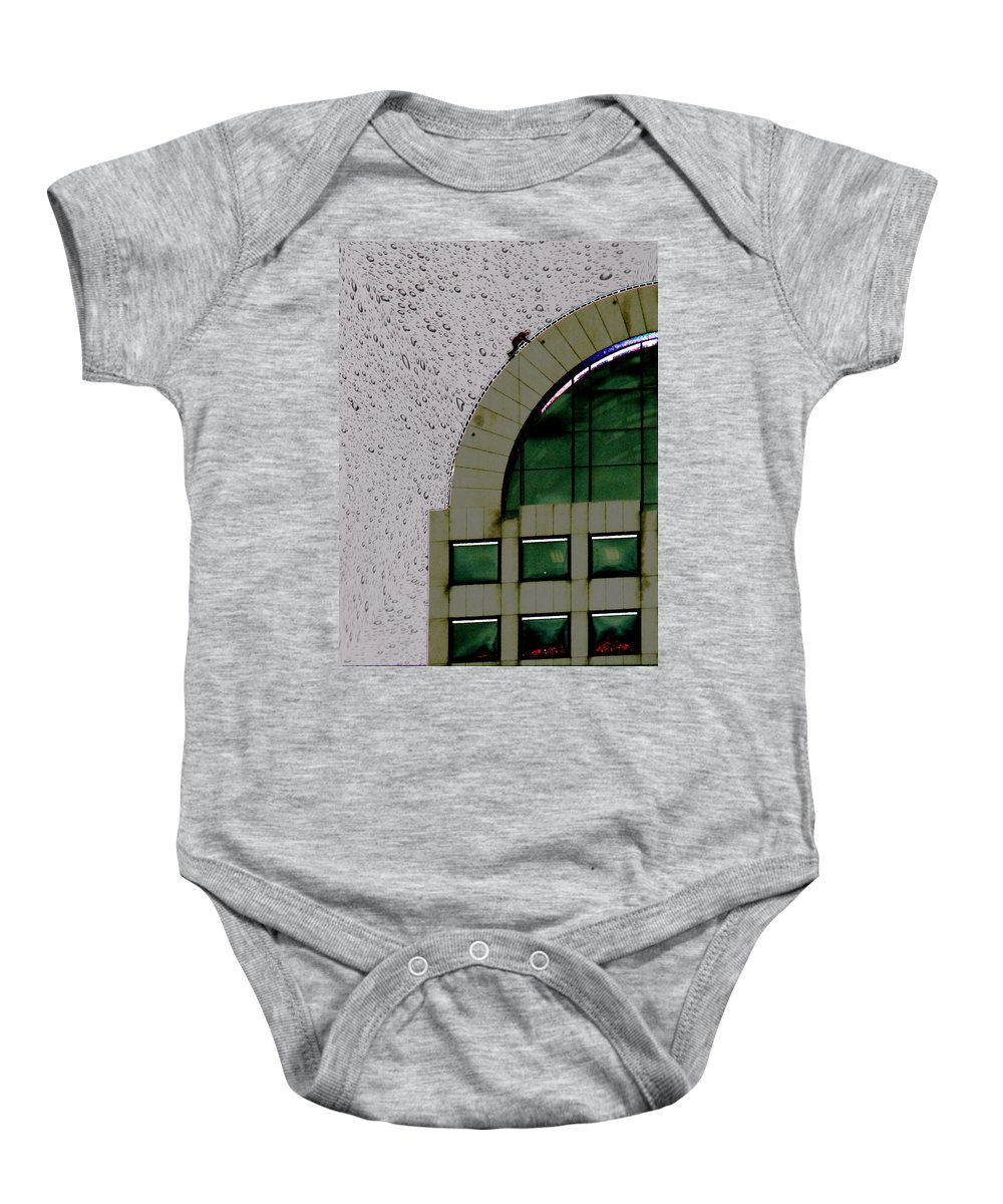 Seattle Baby Onesie featuring the photograph Window Washer by Tim Allen