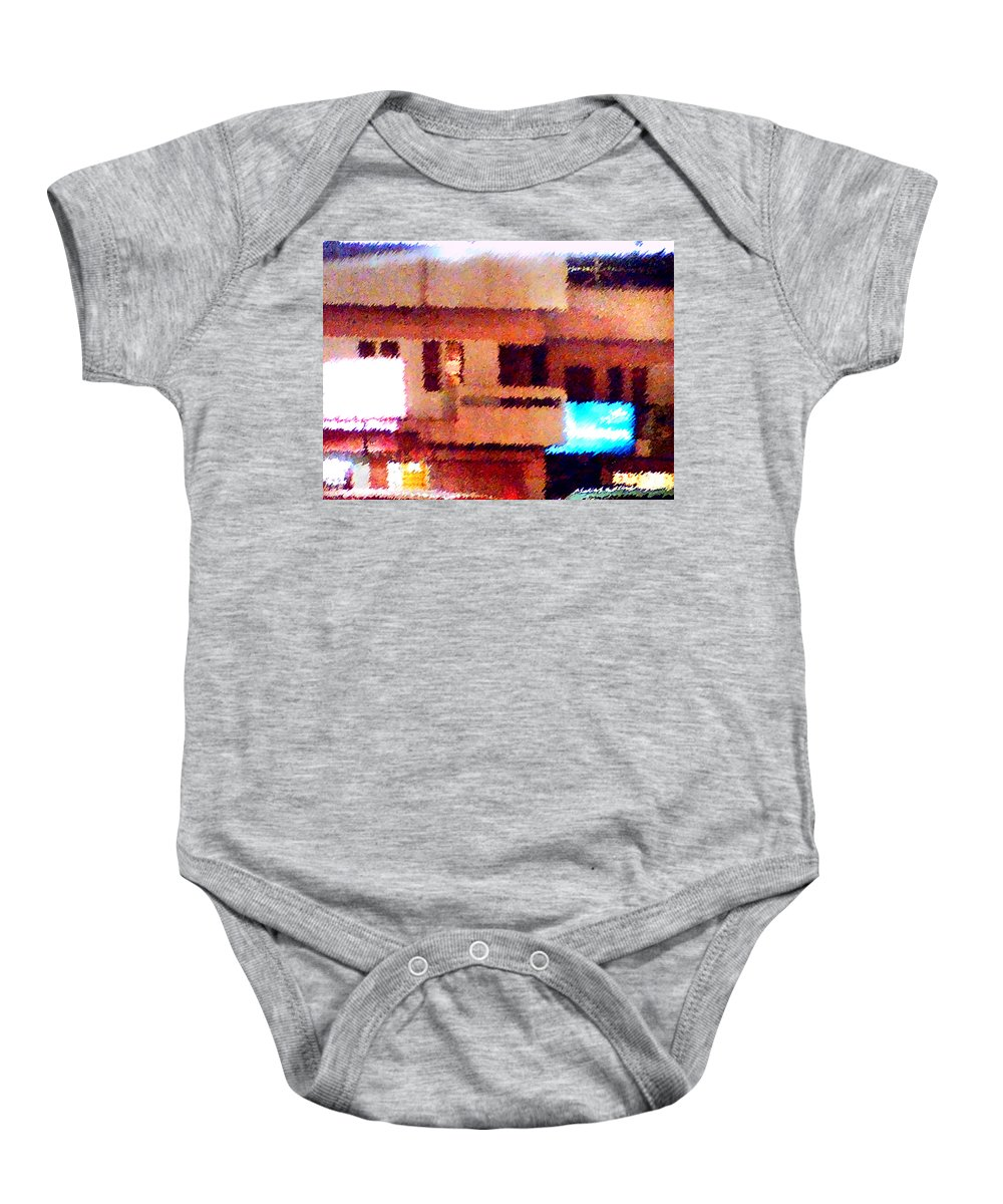 Digital Art Baby Onesie featuring the painting Windows by Anil Nene