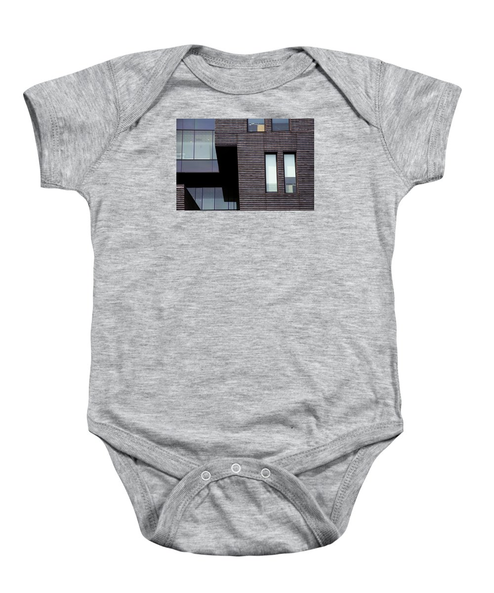 Windows To A Point Baby Onesie featuring the photograph Windows Boxed by Karol Livote