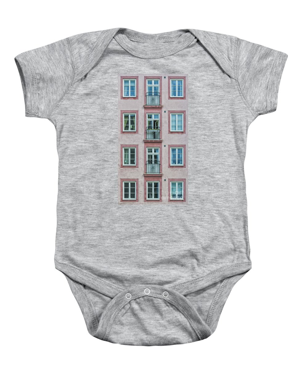 Pink Baby Onesie featuring the photograph Windows Of The French Style by Antony McAulay