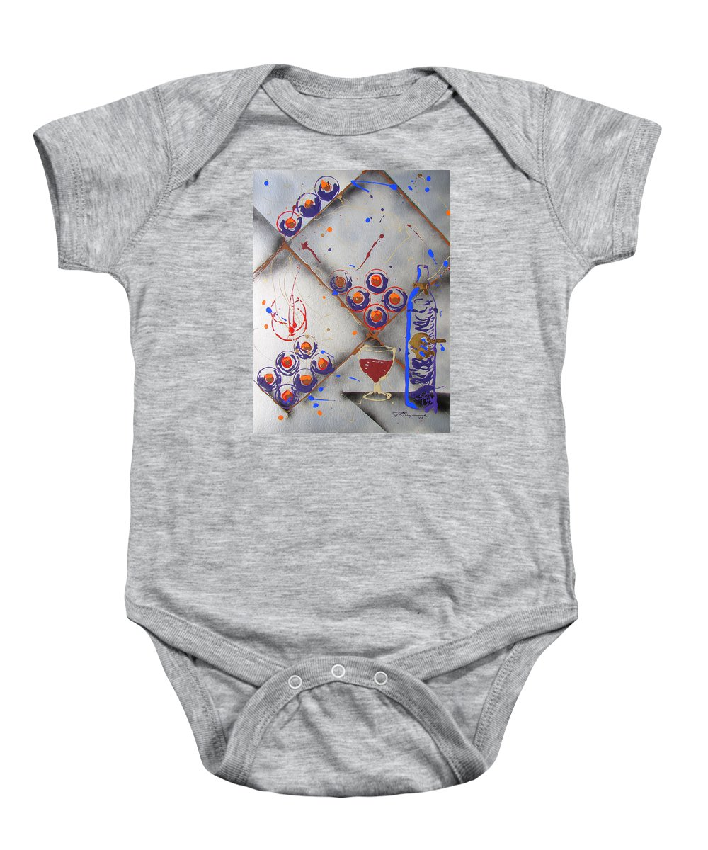 Wine Baby Onesie featuring the painting Wine Connoisseur by J R Seymour