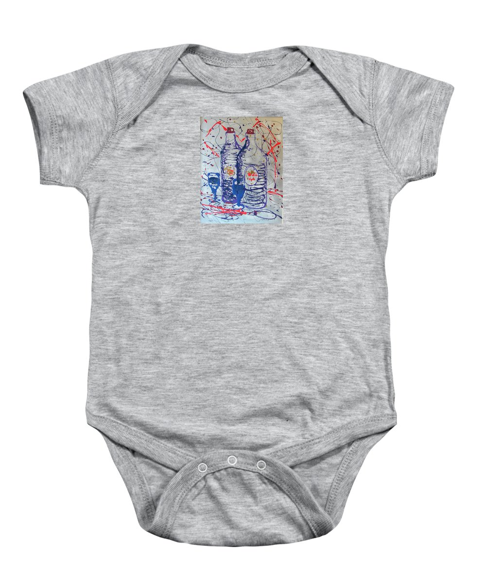Impressionist Painting Baby Onesie featuring the painting Wine Jugs by J R Seymour