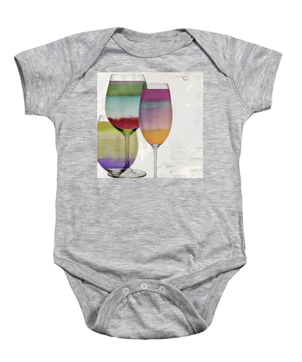 Wine Baby Onesie featuring the painting Wine Prism by Mindy Sommers