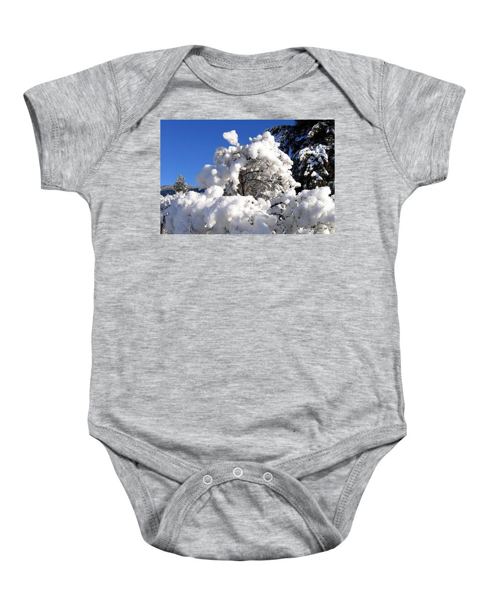 Winter Baby Onesie featuring the photograph Winter Cotton by Will Borden