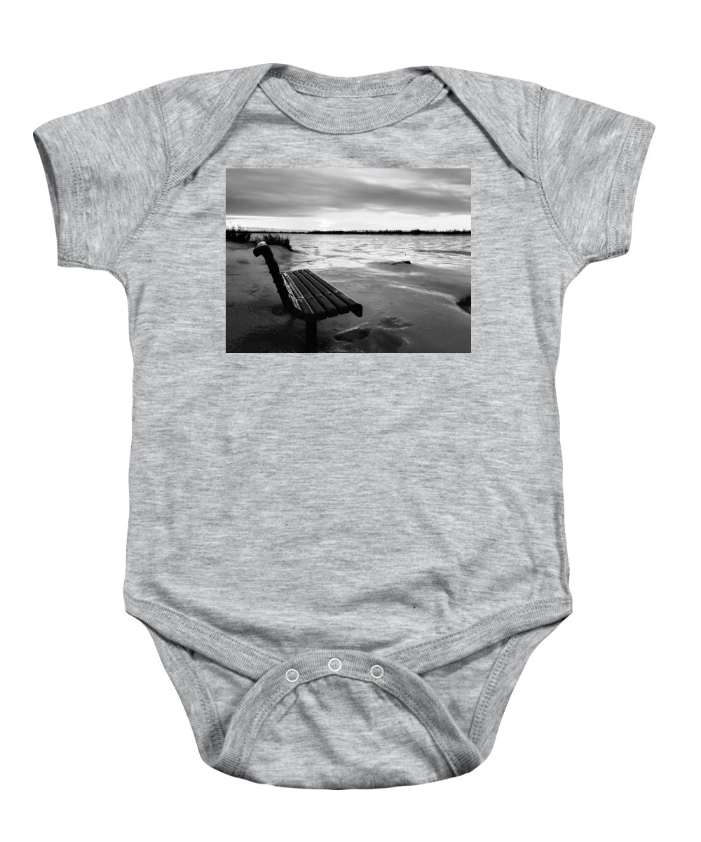 Winter Baby Onesie featuring the photograph Winter Scene by Cristina Stefan