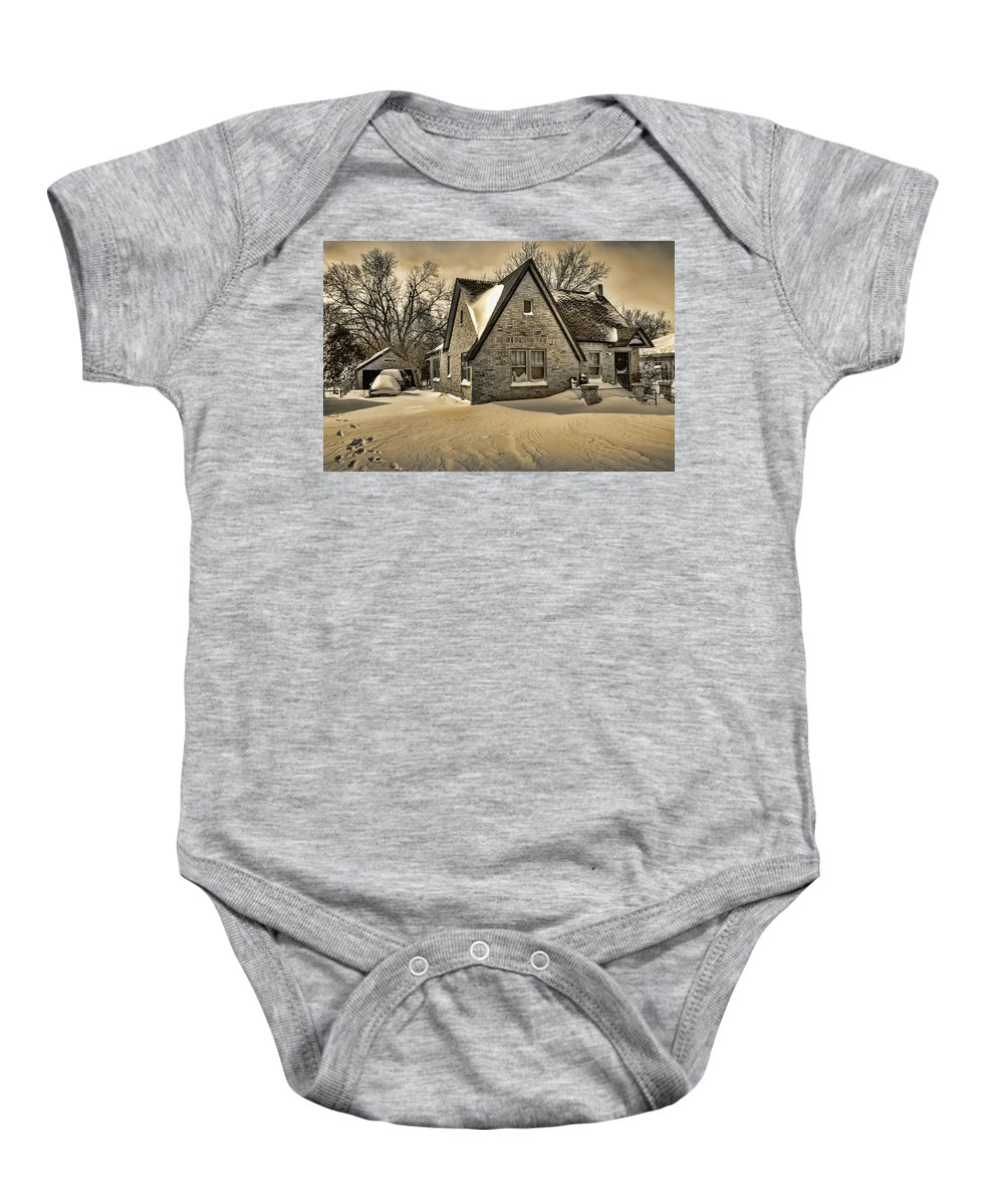 Winter Baby Onesie featuring the photograph Winter Snow II by Ricky Barnard