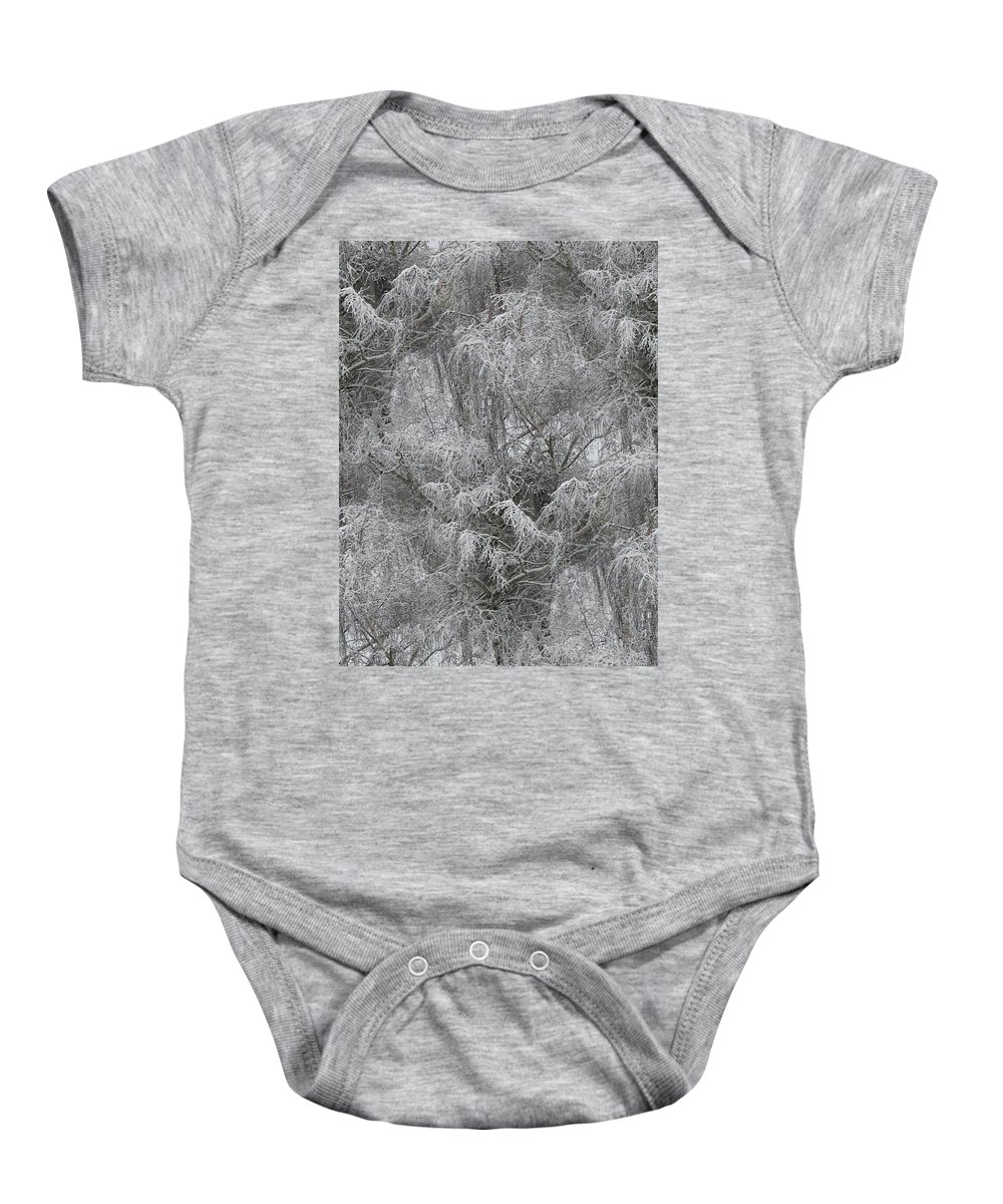 Winter Baby Onesie featuring the photograph Winter Trees by Tim Allen