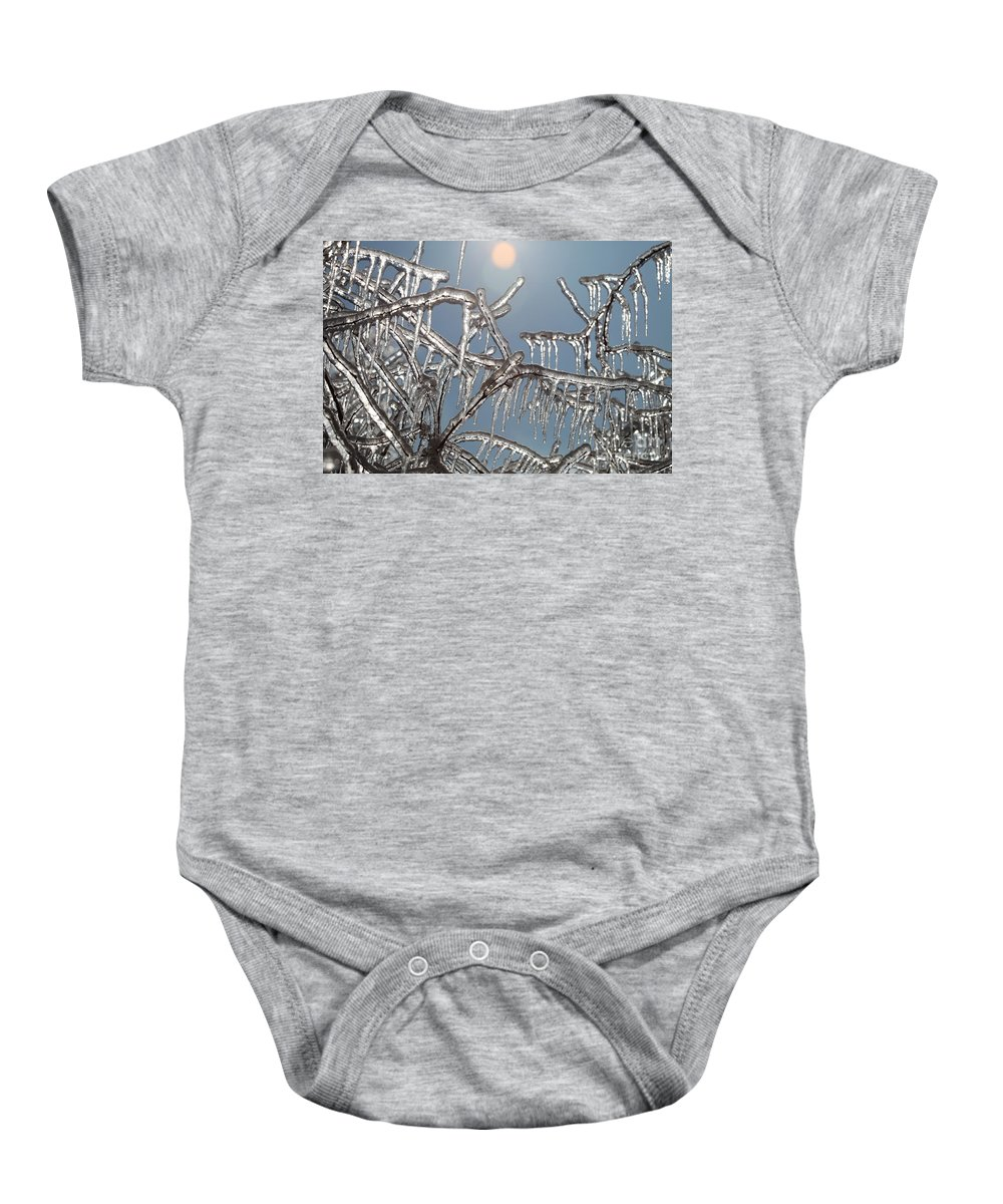 Winter Baby Onesie featuring the photograph Winter Warmth by Nadine Rippelmeyer