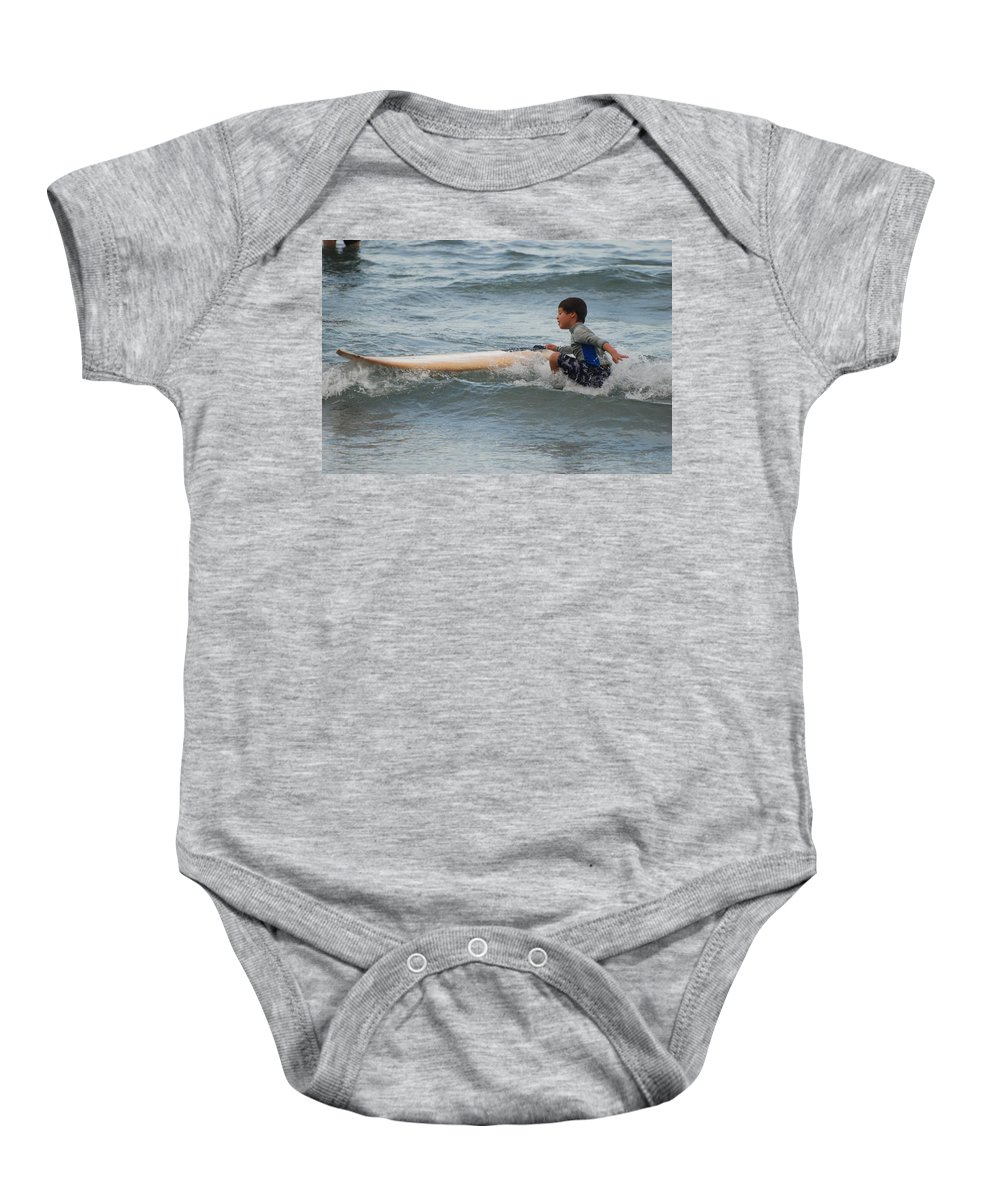 Beach Baby Onesie featuring the photograph Wipe Out by Rob Hans