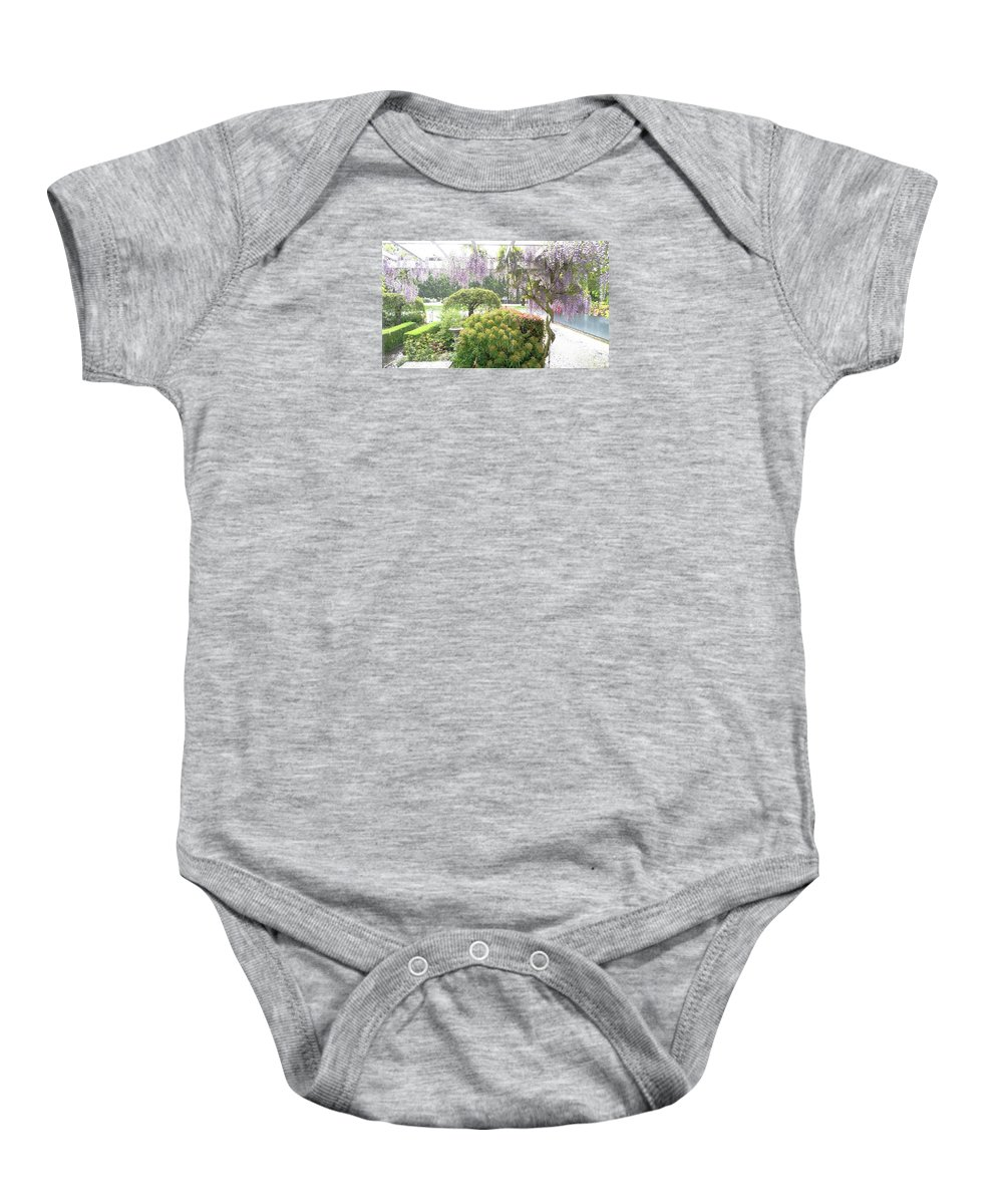 Hail Baby Onesie featuring the photograph Wisteria In Hailstorm by Nareeta Martin