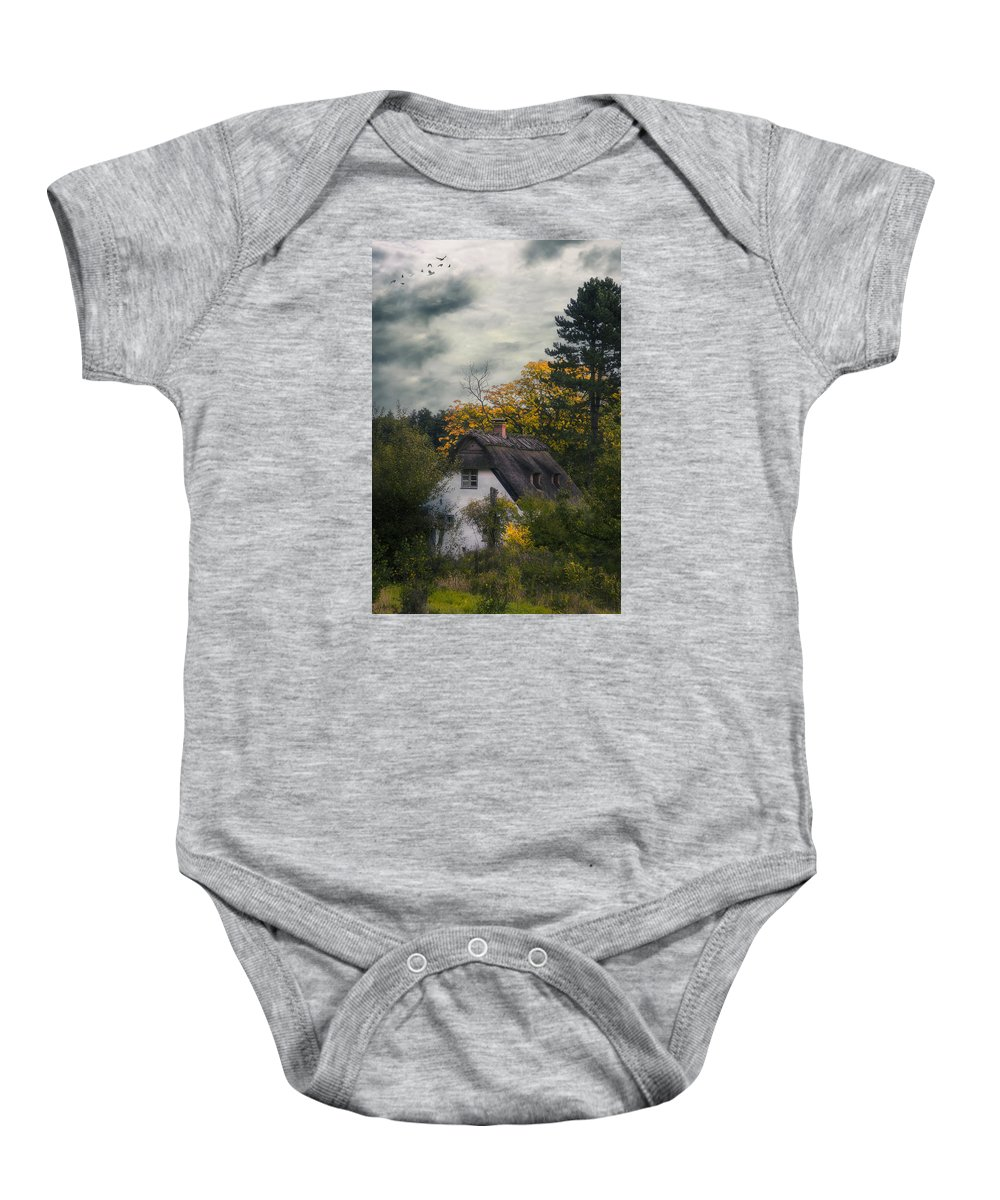 Hut Baby Onesie featuring the photograph Witch Cottage by Joana Kruse