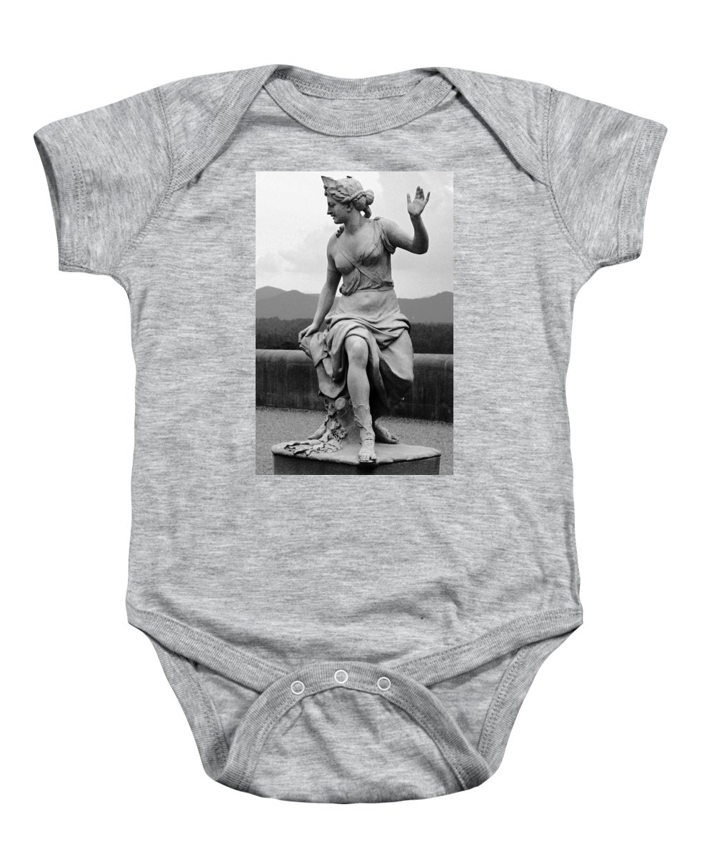 Figurative Baby Onesie featuring the photograph Woman Sculpture Nc by Eric Schiabor