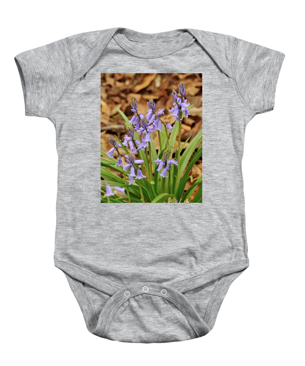 Blue Wildflowers Baby Onesie featuring the photograph Wood Hyacinth Blue by Hewett Beasley