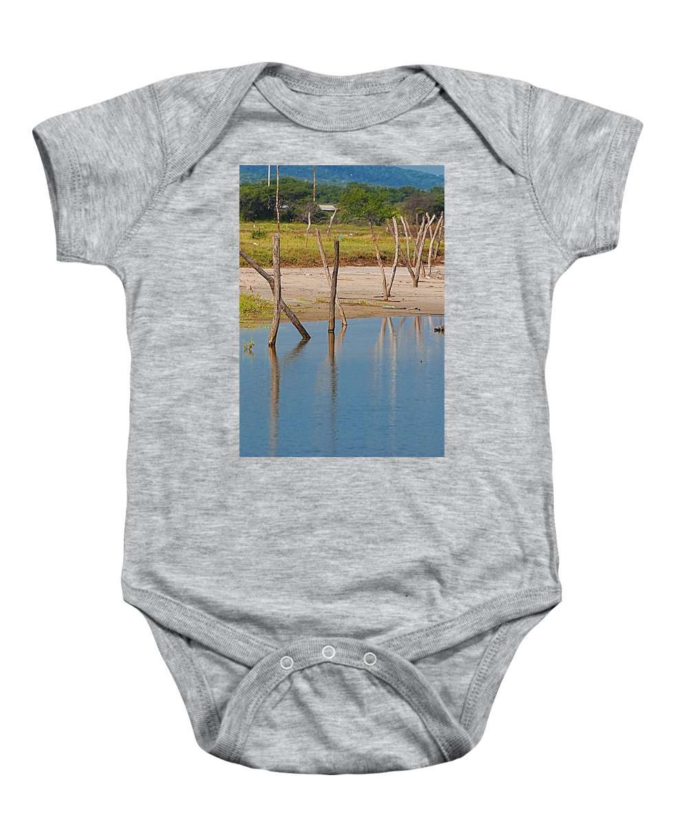 Wather Baby Onesie featuring the photograph Wood Walk by Galeria Trompiz