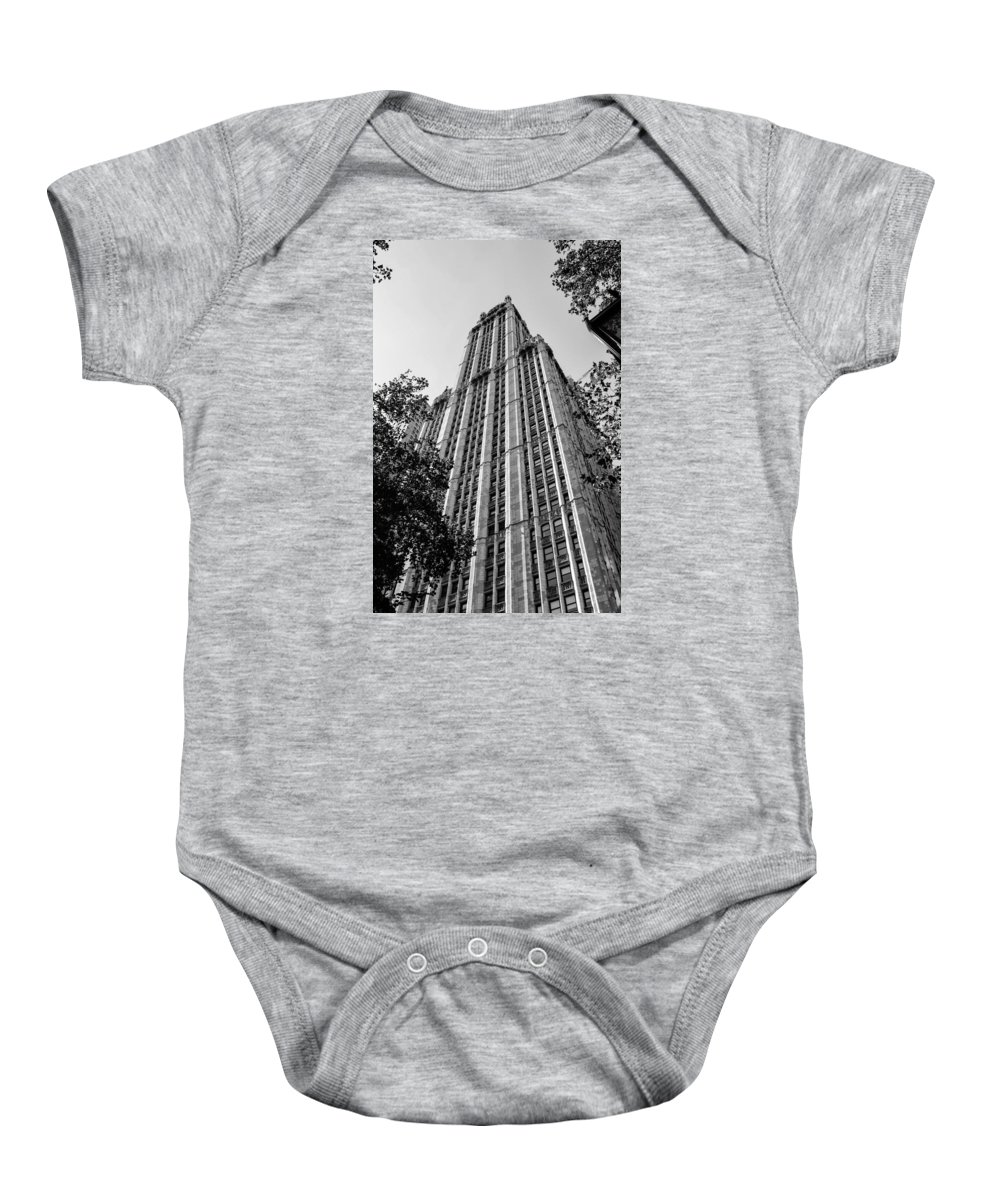 Architecture Baby Onesie featuring the digital art Woolworth by Danielle Nicholle
