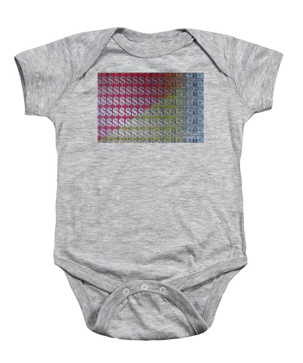 Dollar Baby Onesie featuring the painting Working For The Yankee Dollar by Gary Hogben