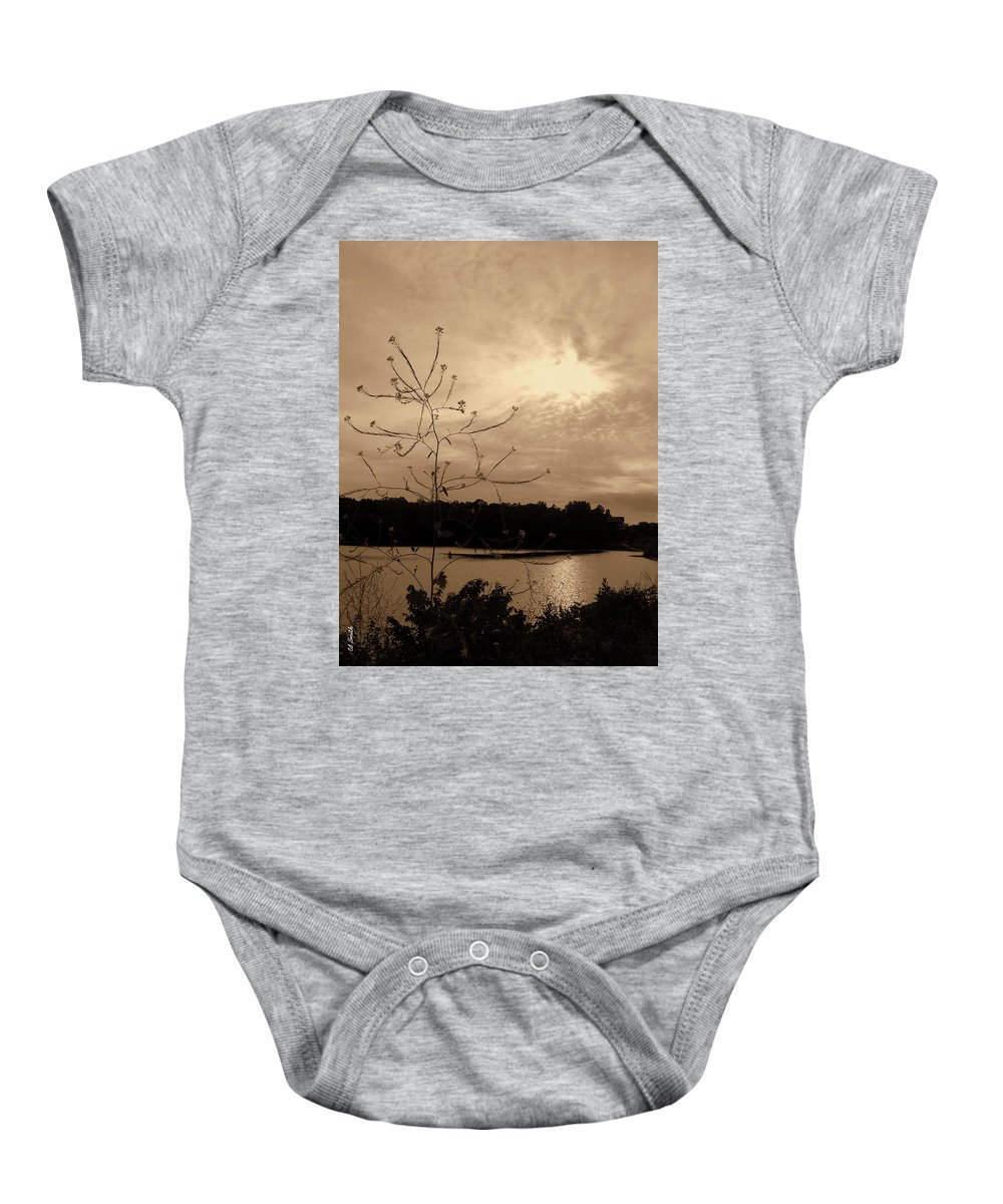 Worm Hole Baby Onesie featuring the photograph Worm Hole by Ed Smith