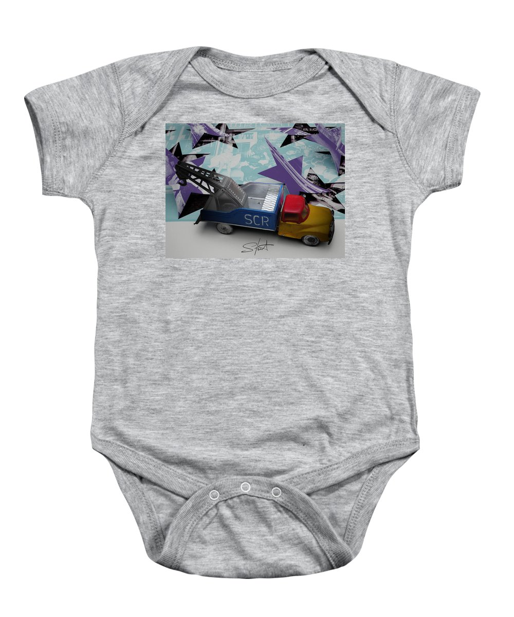 Marilyn Baby Onesie featuring the photograph Wrecking Crew by Charles Stuart