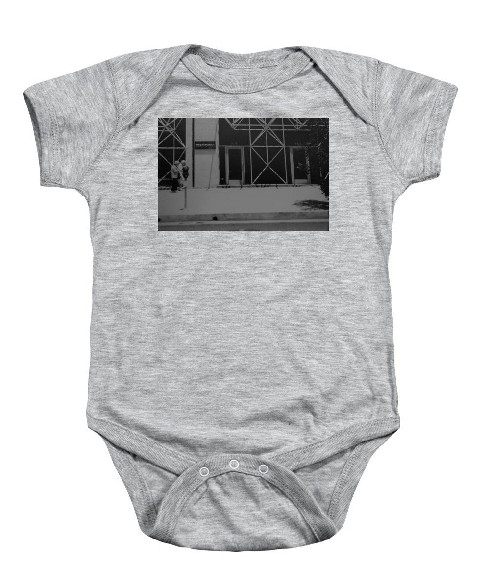 Black And White Baby Onesie featuring the photograph X by Rob Hans