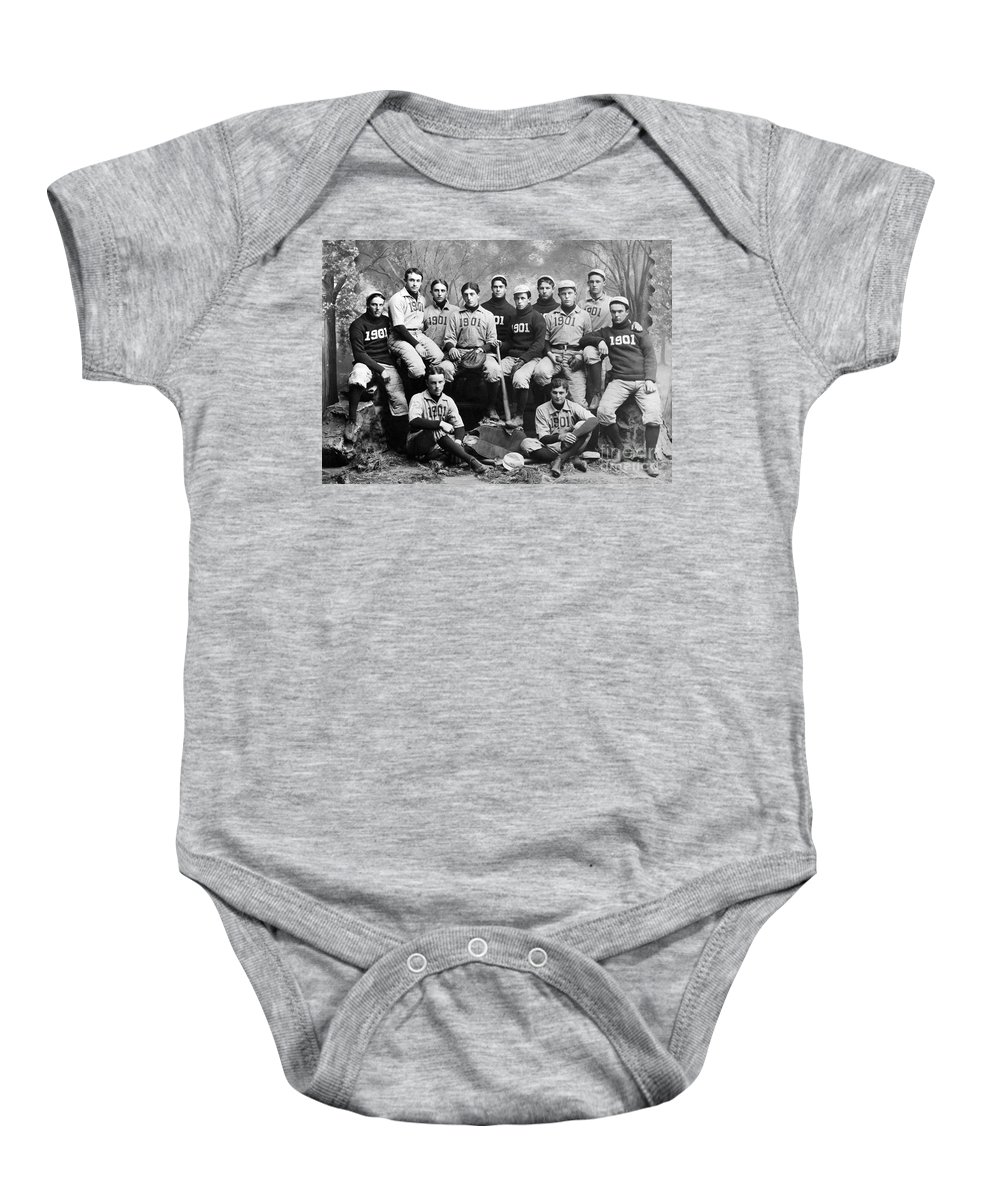 1901 Baby Onesie featuring the photograph Yale Baseball Team, 1901 by Granger