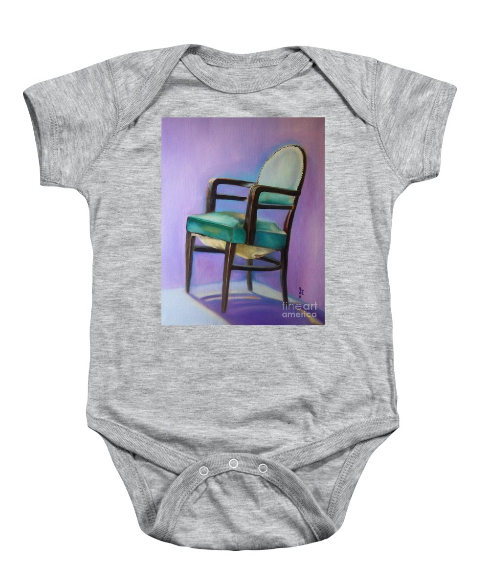 Still Life Baby Onesie featuring the painting Ye Who Are Weary by Marlene Book