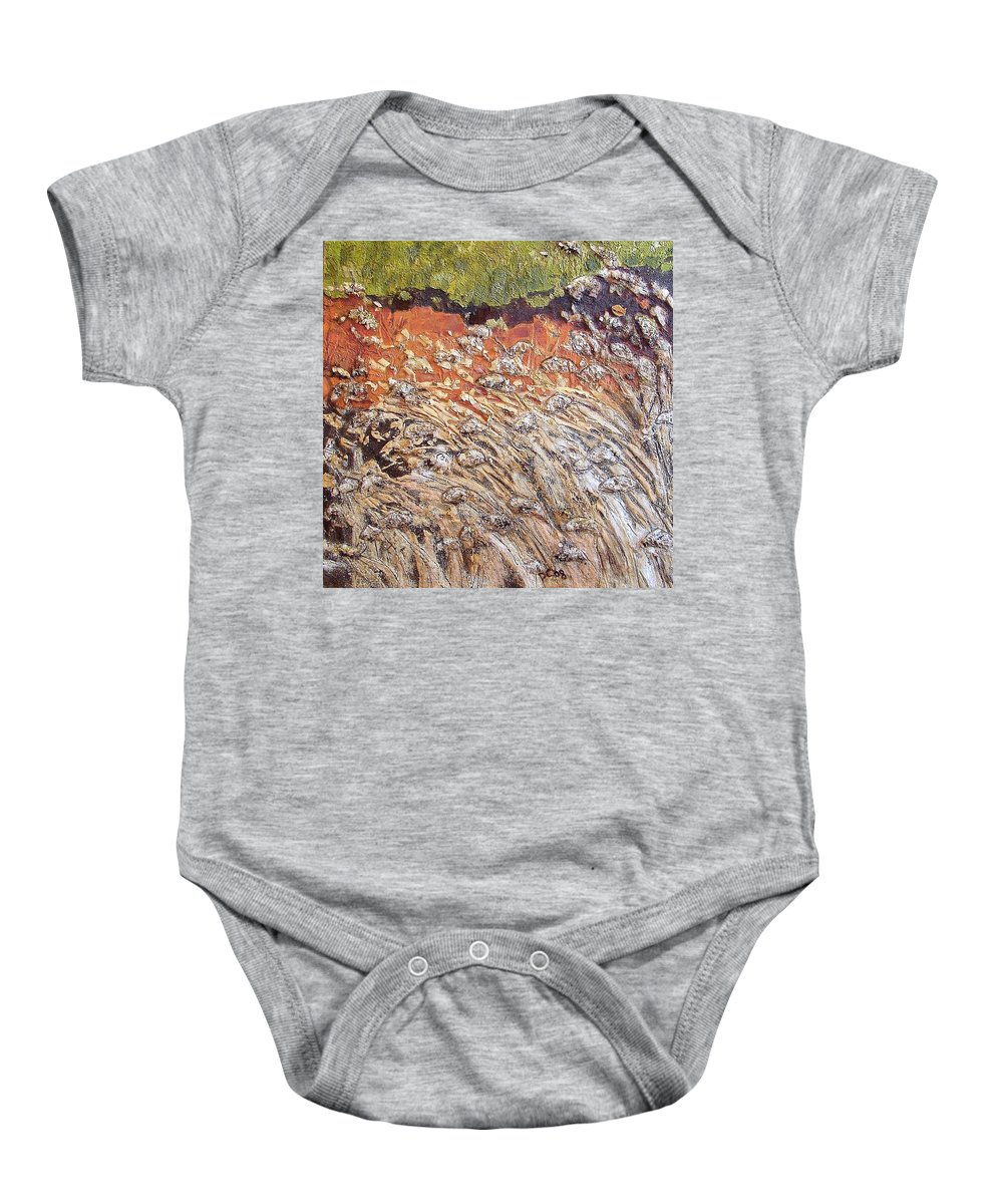 Abstract Baby Onesie featuring the painting Yearning by Piety Choi